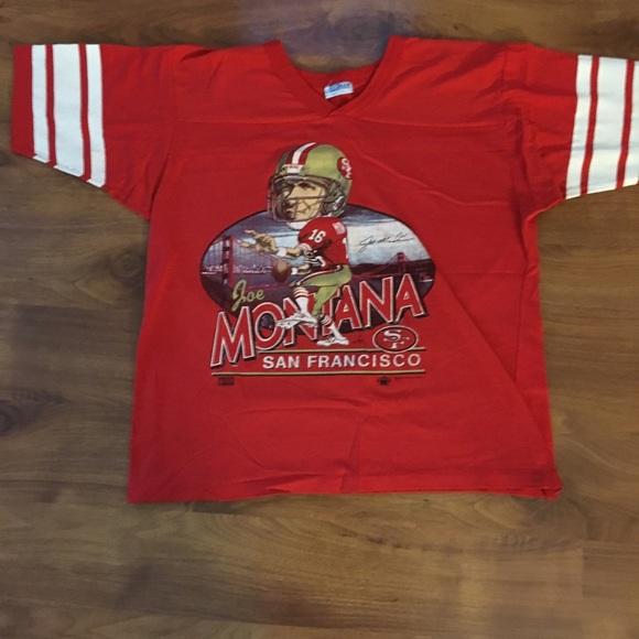 super popular cd647 69717 Joe Montana SF 49ers Jersey T-Shirt